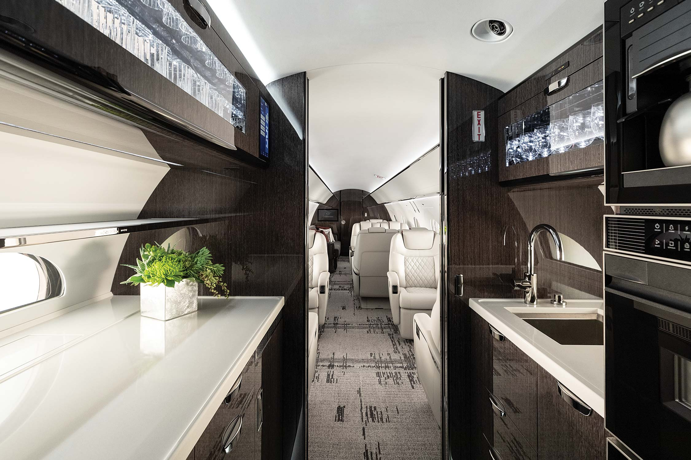 G600 Galley Interior