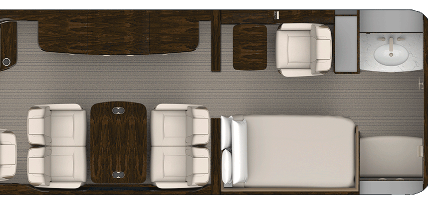 Rendering of Forward Galley aircraft floorplan