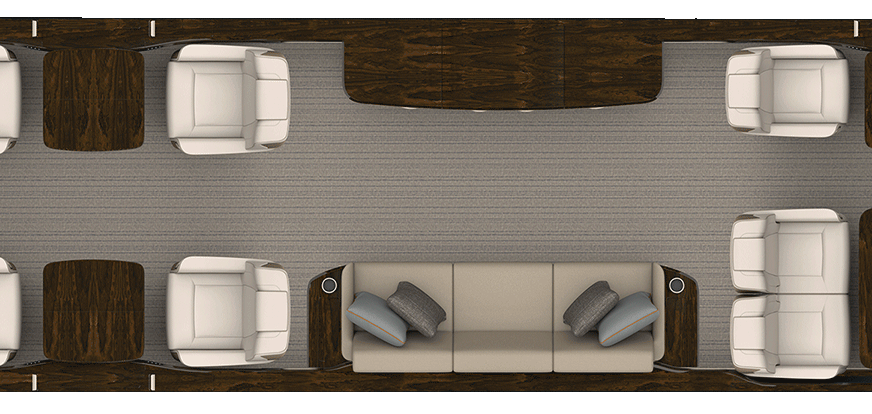 Rendering of Ultragalley aircraft floorplan