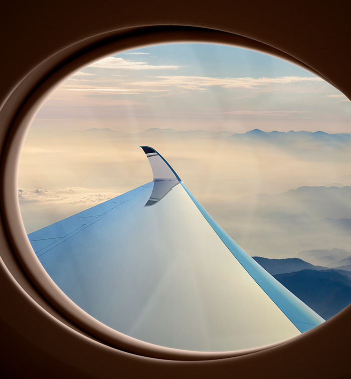 Window view of a winglet